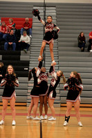 2016-02-12 Cheer at Var Girls Bball vs Wilson