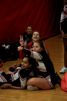 2016-01-11 Cheer at Var Girls Bball vs Lebanon
