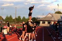 2016-10-13 Cheer at Girls Soccer vs Cedar Crest