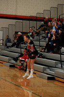 2015-12-16 JV Cheer at Boys Bball vs Solanco